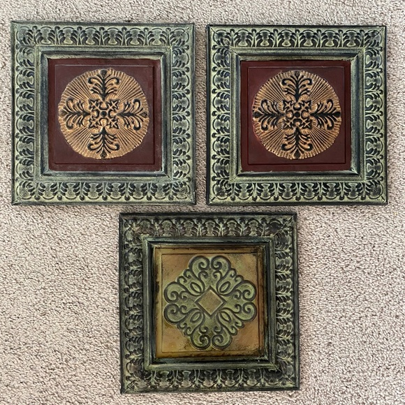 Metal Wall Decor Tiles